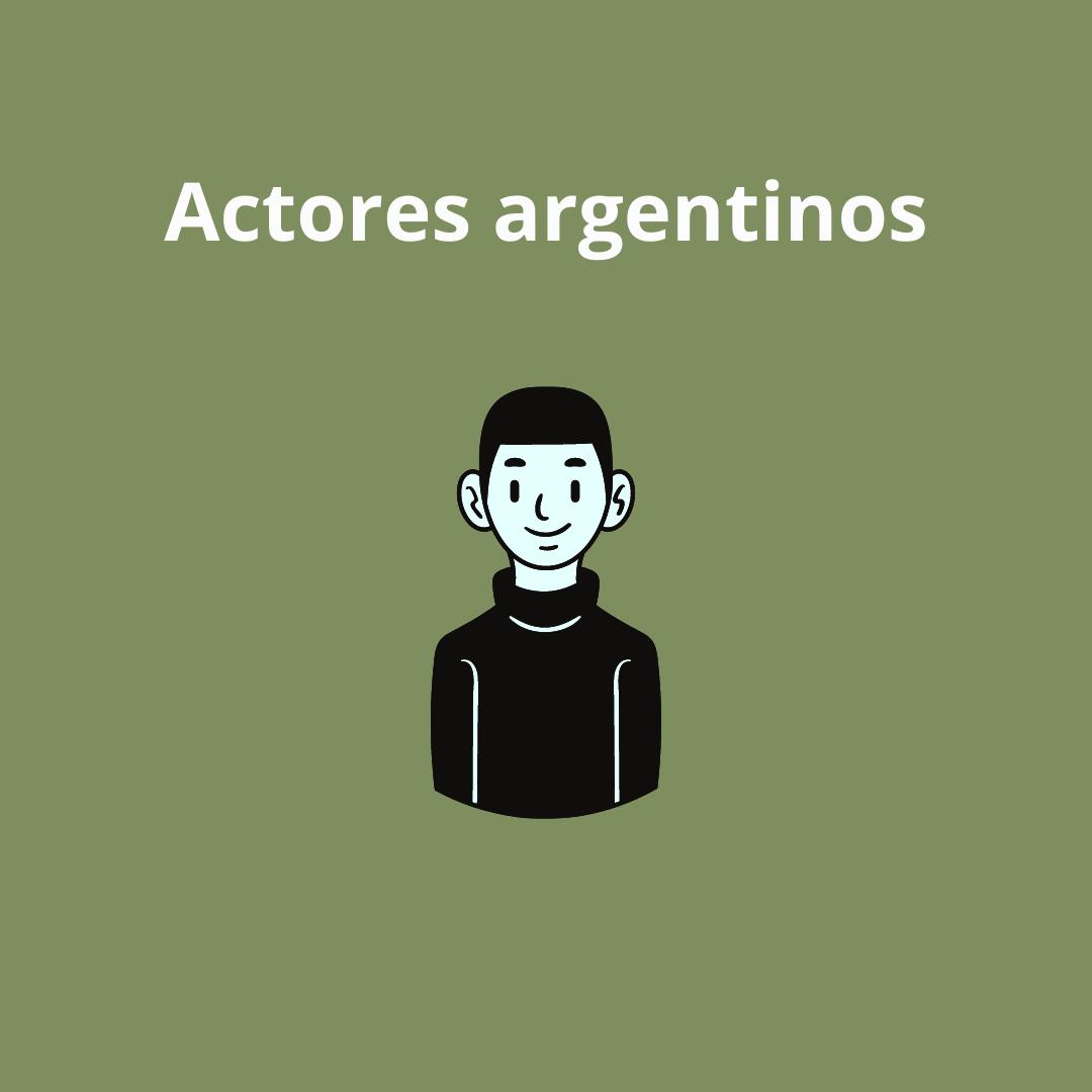Actores argentinos flyer